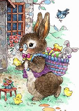 Toland Home Garden 1012287 Vintage Easter Bunny 28 x 40 Inch