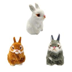 3 Color Mini Realistic Cute White <font><b>Plush</b></font>