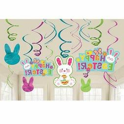 Amscan 12: Easter Bunny Hanging Swirl Decorations