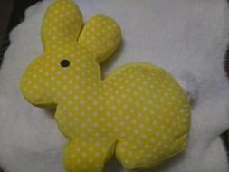 "12"" Large Dan Dee Yellow Easter Bunny Rabbit Soft Plush  Pee"