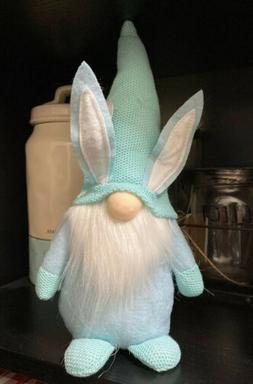 "13"" Baby Blue/Mint Easter Gnome with Bunny Ears ~ Stuffed Pl"