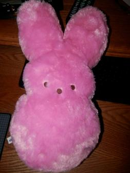 "14"" EASTER PEEPS PINK BUNNY RABBIT LARGE SOFT PILLOW STUFFED"
