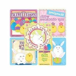 15 Easter Chick Bunny Stickers Kid Party Goody Bag Basket Fi