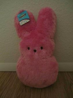 """Peeps 15"""" Shaggy Pink Bunny Great for Easter Basket NWT"""