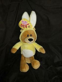"""18"""" Easter Beaver with Yellow Bunny Suit Kellytoy Stuffed Pl"""