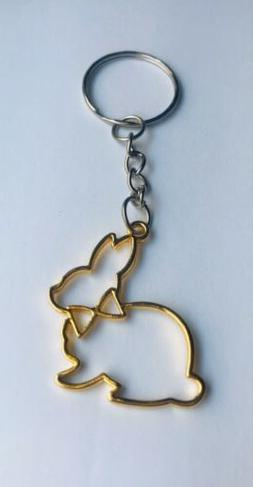 3 Easter Bunny Keychains