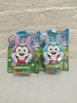 2 Funny Bunny Easter Bunny Candy Dispenser Toy New!