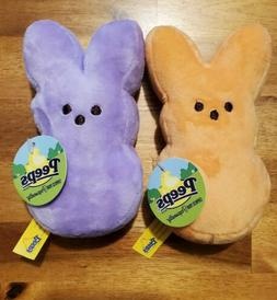"Peeps 2014 Just Born Plush Bunny 6"" New With Tags Easter Lot"