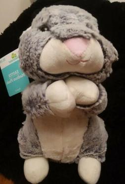 2018 Gray Easter Medium Plush Standing Bunny