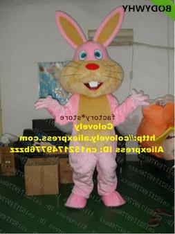 2020 Pink Easter Bunny Rabbit Mascot 2020 Easter high qualit