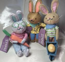 2020 Spritz Easter Decor Bunny Rabbit Plush Beanie Set Lot O