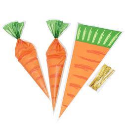 20pcs Carrot Candy <font><b>Bag</b></font> <font><b>Easter</