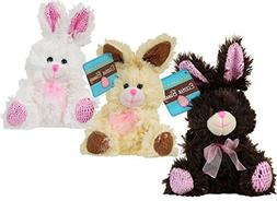 3 Small Chocolate-Scented Plush Stuffed Easter Bunny Rabbit