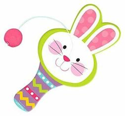 Amscan Party Favor Items Easter Bunny Shaped Paddle Ball, 1