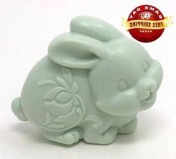 3D GREEN EASTER BUNNY SOAP BAR  by H&B Oils Center HANDMADE