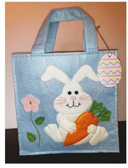 Avon Fabric Holiday Gift Bags - EASTER / Spring - BLUE BUNN