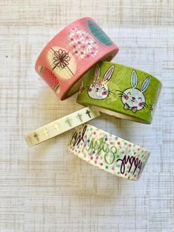 4 Rolls Easter Washi Tape set papercraft scrapbook planner s