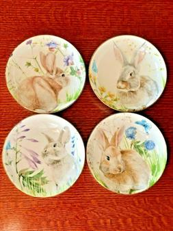 """4 Williams-Sonoma """"BUNNY BOWLS"""" Set of 4 *BRAND NEW!* Floral"""