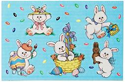 Beistle 44003 4-Pack Easter Bunny Stickers Sheet, 4-3/4 by 7