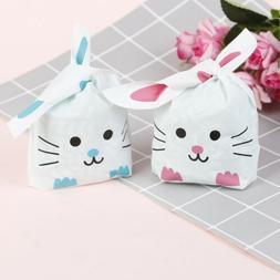 50pcs Cute Long Bunny Rabbit Ear Gift Bag Easter Candy Gift