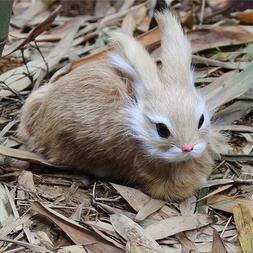 15CM Simulation Rabbit Toy Cute White Fur Realistic <font><b