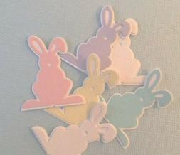 6 DOUBLE EASTER BUNNY DIE CUTS. PASTELS. CARDS. SCRAPBOOKS.