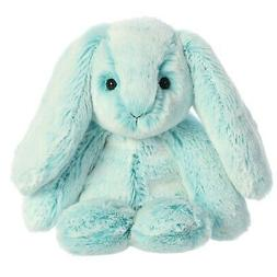 "Aurora 9"" Paddle Bunny Turquoise Stuffed Animal"