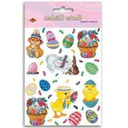 Easter Bunny Basket & Egg Stickers 4 Pack Favors Easter Deco