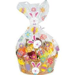 Easter Bunny and Eggs Large Basket Cello Bag Easter Decorati