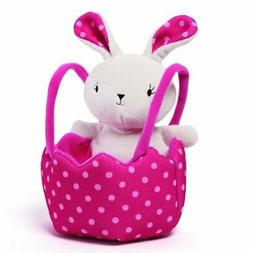 Gund Easter Bunny and Pink Polka Dot Basket Plush