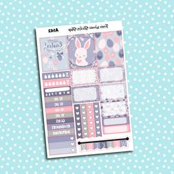 A142 - Easter Bunny Weekly Kit Planner Stickers for Erin Con