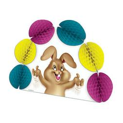 Adorable Egg Juggling Bunny Easter Spring Vintage Style Beis