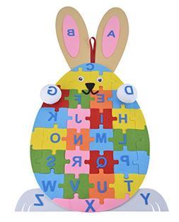 Coxeer Kids Education Puzzle Letter Puzzle Rabbit Egg Handma