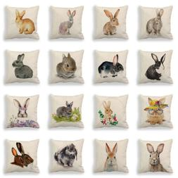 Animal Easter Bunny Waist Cushion Cover Pillow Case Home Off