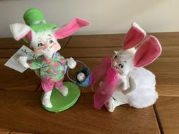 Annalee Easter Bunny & Fluffy Bunny - Set of 2