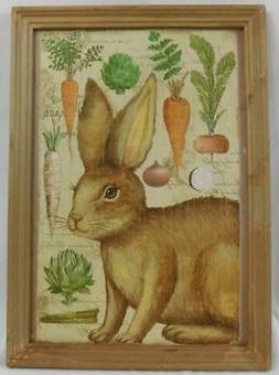 Ashland Rustic Easter Bunny Rabbit Wall Art Decor Plaque New