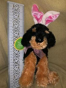 AURORA SITTING Black Brown Doberman Rottweiler Easter Bunny