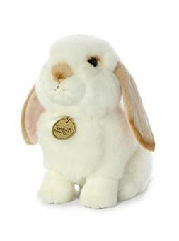 Aurora World Rabbit Miyoni Stuffed Animal, White and Tan, 8""