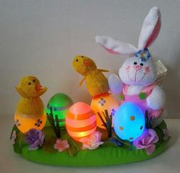 Avon Light Up Easter Bunny, Chicks, and Colored Eggs Centerp