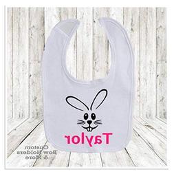 Baby Bib, Easter Bib, Personalized Bib, Easter Bunny Bib, Ba