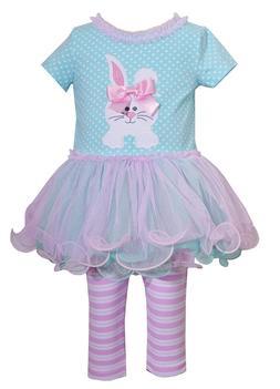 Bonnie Jean Baby Girls Bunny Holiday Easter Multi Tutu Dress