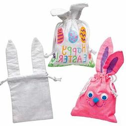 Baker Ross Bunny Fabric Drawstring Bags  Easter Crafts Kids
