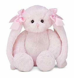 Bearington Bun Bun Pink Plush Bunny Stuffed Animal, 14 inche