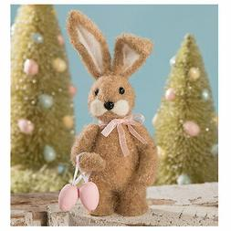 Bethany Lowe Easter Brown Wool Little Miss Bunny Eggs Retro