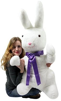 Big Plush American Made Giant Stuffed Bunny White Soft 42 In