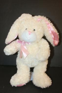 Ganz Blossom Bunny Rabbit Ivory Pink Floppy Ear Plush Cuddly