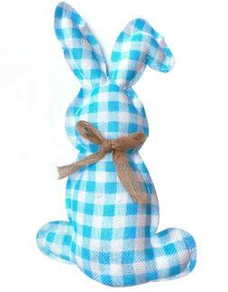 Blue Gingham Bunny Rabbit Easter Spring Table Decoration Plu