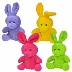 Greenbrier Bright Colored Plush Easter Bunnies, 4 Piece