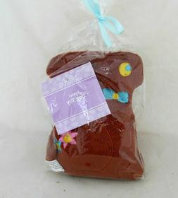 Brown Easter Bunny Rabbit Pet Squeeky Dog Toy Plush Figure S