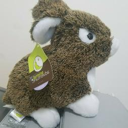 brown white bunny rabbit plush animal toy